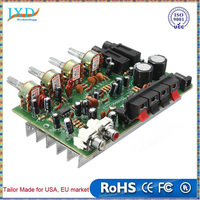 Electronic Circuit Board 12V 60W Hi Fi Stereo Digital Audio Power Amplifier Volume Tone Control Board Kit 9cm x 13cm