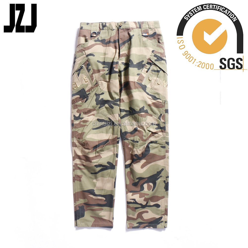 hot selling army camouflage men combat trouser rip stop