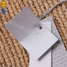 Sinicline fashion design custom printed paper garment hang tag and label