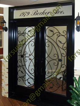 Elegant wrought iron interior door with rectangle transom for villa buy wrought iron interior - Wrought iron indoor decor classy elegance ...