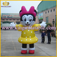 Inflatable mickey mouse moving clothes, hot character moving cartoon, moving cartoon clothes