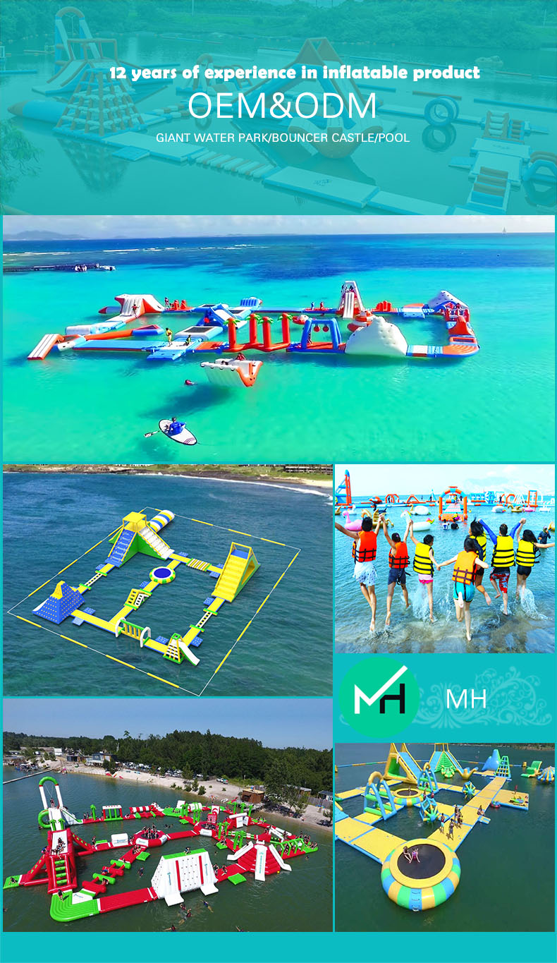 Hot sale giant adult cheap inflatable water park inflatable floating water sports for sale