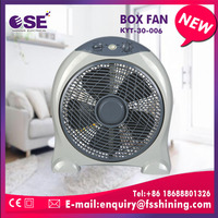 Metal blade wall mounted electric source ceiling box fan