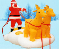 2014 hot sale christmas decoration outdoor inflatable santa in sleigh
