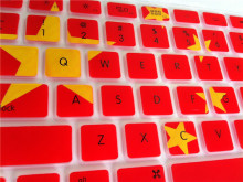 Waterproof Customized 0.3mm Silicone Laptop Color Keyboard skins