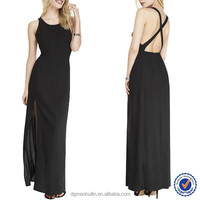China Suppliers Wholesale Women Sexy Maxi Evening Dress Open Back