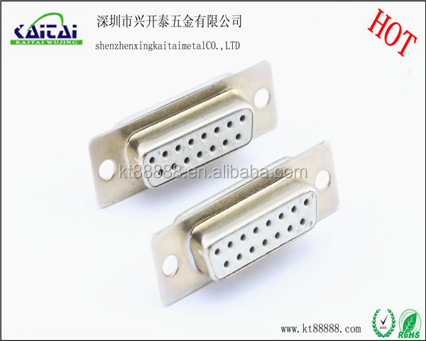 D-SUB 15p solder connector 2row pin