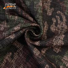 Online shopping professional popular winter cloth material poly woolen camouflage fabric