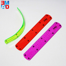 Chinese 20cm 8 inch transparent clear soft PVC flexible ruler