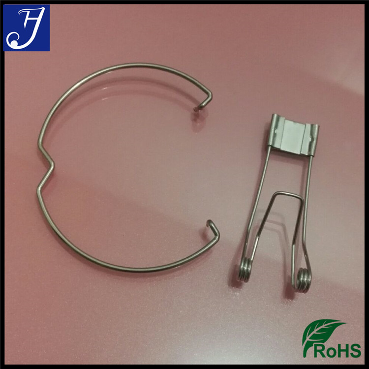 Custom LED stainless steel wire retaining spring clips for recessed lighting