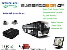 3g live video streaming 720p realtime ahd , HDD storage, alarm for bus passenger monitoring and calculation