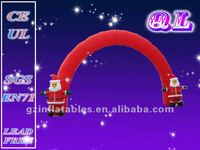 2016 {QiLing} christmas decoration inflatable santa arch