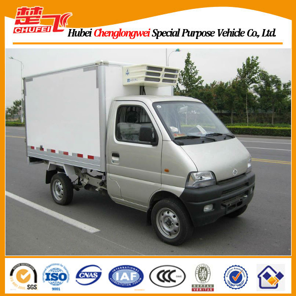 Changan 4*2 gasoline engine mini refrigerated van