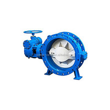 DN400 Ductile iron PEFE seal Flange couble eccentric butterfly valve