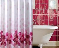 High quantity pink peach blossom polyester shower curtain/hot pink shower curtains