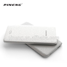 Portable metal case polymer battery ultra slim credit card size power bank 8000mah