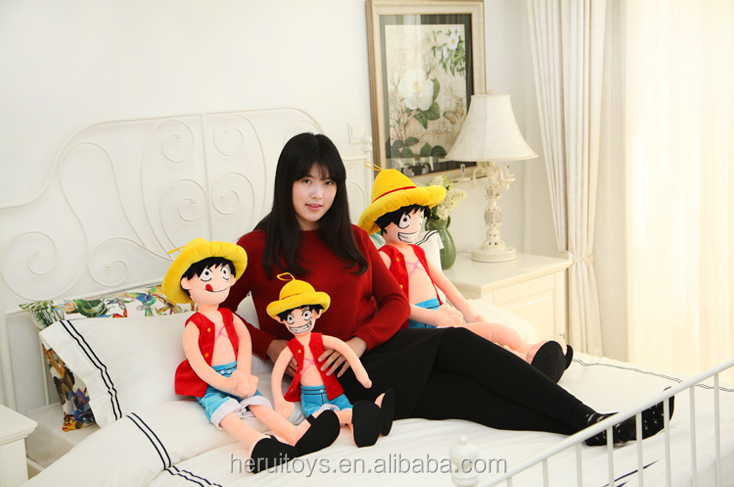 One Piece Monkey D Luffy plush toy&Luffy stuffed plush toy&One Piece wholesale plush toy
