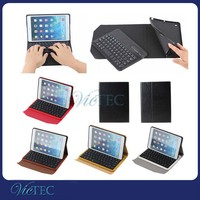 Hot high quality detachable mini keyboard leather case for iPad mini