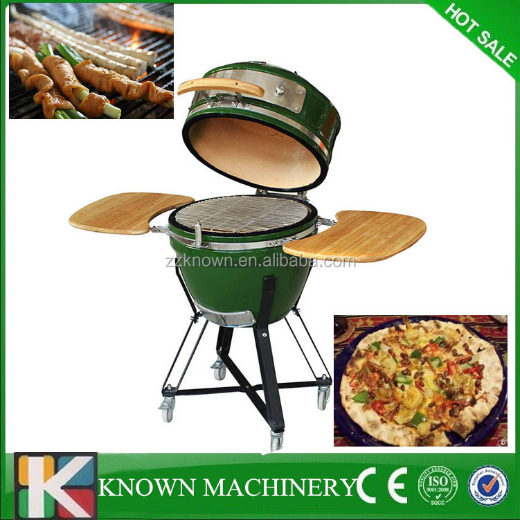 Wholesale price Mini Ceramic Kamado Smoker, Charcoal BBQ/ Barbecue Grills for Indoor & outdoor