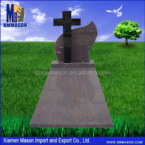 Simple Cross Design Headstone