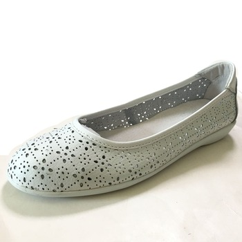 Women's Flora Punched Ballet Flats Comfort Slip On Fashion Dress Shoes