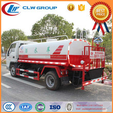 Foton 5 litre water tanker trucks for sale of chinese factory