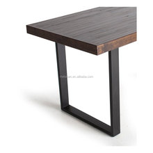 Modern trestle stainless steel metal dining table leg