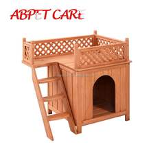 Wooden Puppy Pet Dog house Wood Cat House Indoor Dog House