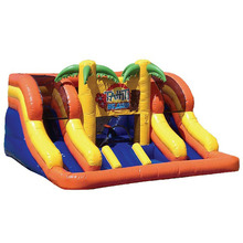 high quality Mini Tropical Tahiti Island Kids inflatable water slide/ waterslide supplier china