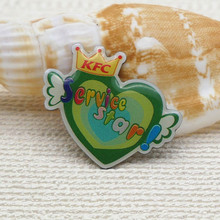 high quality custom offset printed lapel metal pins for KFC