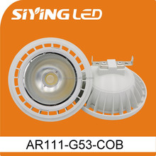 High Power 15W 3000K COB GU10 led lamp ar111 g53 220v