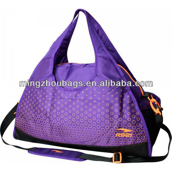 2013 Fashion With Big Brand Design Purple Print Handbags