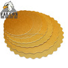 Scalloped Edge Corrugated gold Cake Board round And Cake Base boards cake tray
