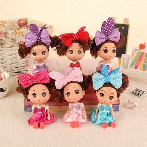 Wholesale Korean 12cm Silicone Toy Doll Creative Child Baby Toy Wedding Gift Doll