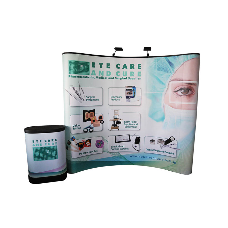 New style aluminum PVC trade <strong>show</strong> folding pop up banner stand for trade <strong>show</strong>
