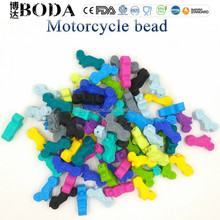 Food grade motorcycle Teething Beads for Baby