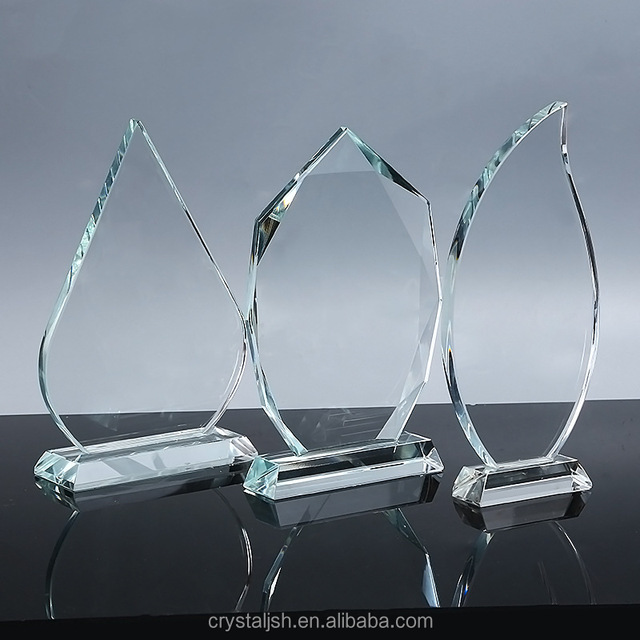 Wholesale clear blank glass crystal awards plaque