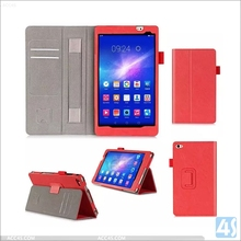 Stylus Pen Folio book style flip leather sleeve case for Huwei Mediapad M2 with 2 card slots