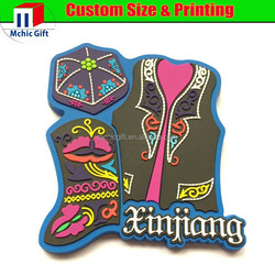 Cheap custom logo 2D effet plastic pvc rubber fridge magnets