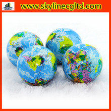 Promotional Earth Stress bouncy balls with OEM printing logo