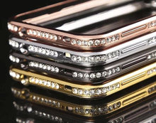 Bling diamond cover metal bumper case for samsung galaxy s4 i9500