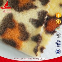 Heat-Insulation Shrink-Resistant White Tiger Print Fabric