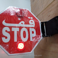 Flashing School Bus Traffic Stop Signals