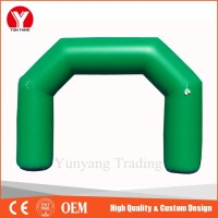 cheap sale custom printing advertising green inflatable finish line arch