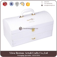 box plastik White Pu Leather drawer storage box