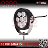 Manufacture led driving light for truck, offroad 4x4 round 7inch 70w led driving light for truck