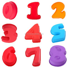 Silicone number shaped tray mold / number shaped chocolate mold