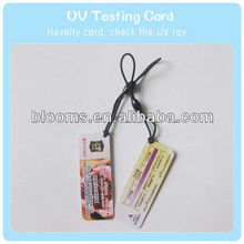 Color changing UV Tester love card