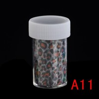 Color Nail Art Wraps Glitter Sticker Decal Polish Decoration Transfer Foil Decal