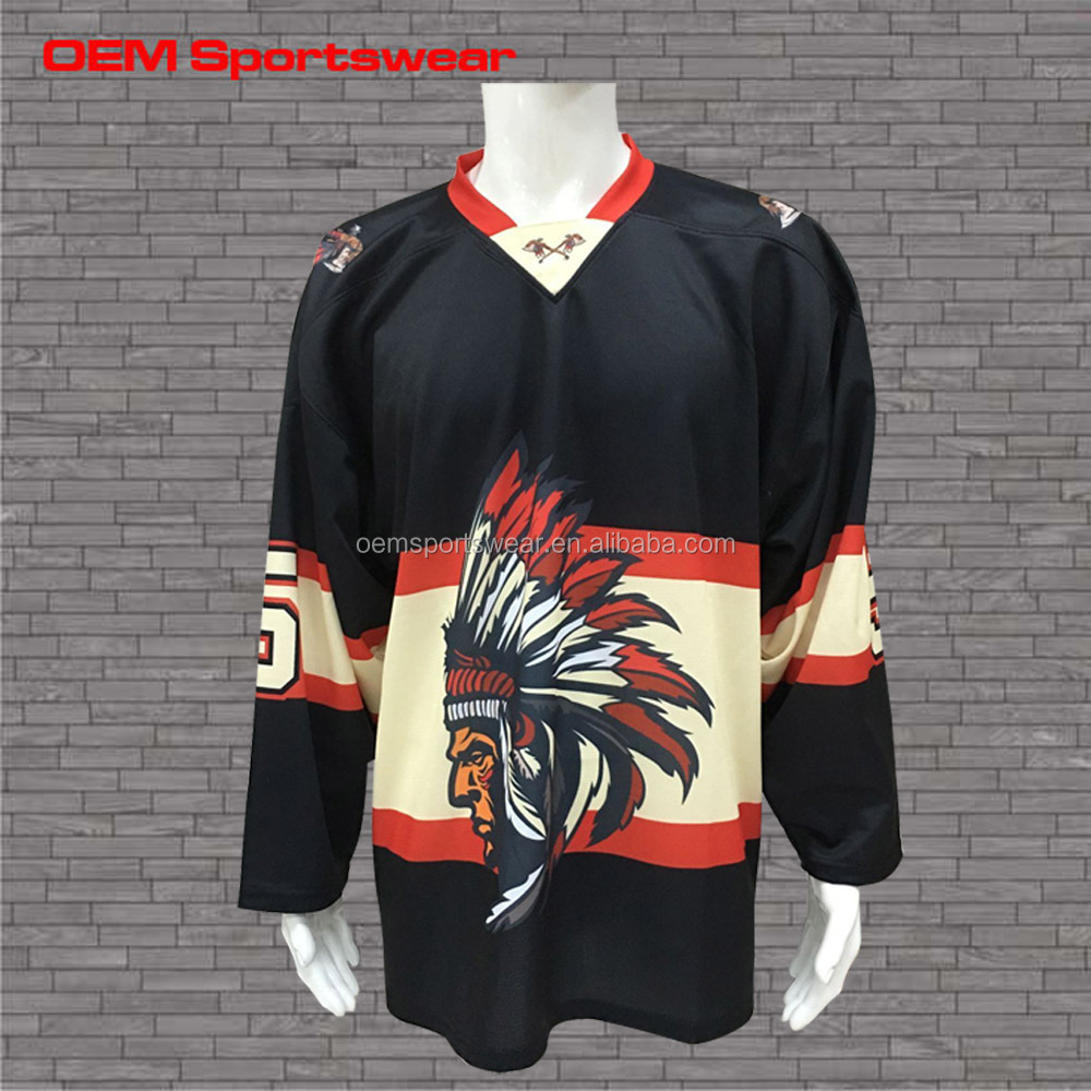 2016 High Quality design reversible funny hockey jerseys